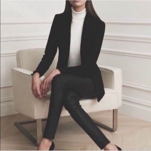 Theory. Monotone black pinstripe blazer.